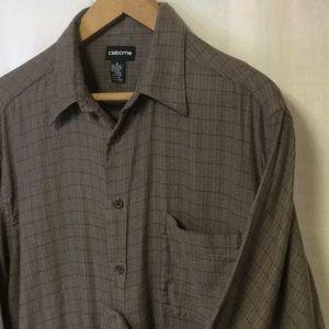Clairborne Men's Long Sleeve Linen Button Down